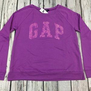 Gap Girls 2XL 13-14 Purple Sparkle Sweatshirt